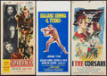 "Movie Posters:Adventure, Sins of Rome & Others Lot (API Film, 1954). Italian Locandinas(3) (13"" X 27.5""). Adventure.. ... (Total: 3 Items)"