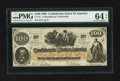 Confederate Notes:1862 Issues, CT41/316A (Old CT41/316B) Counterfeit $100 1862.. ...