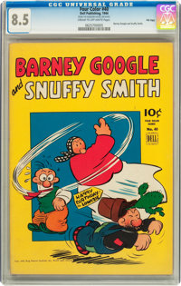 Four Color #40 Barney Google and Snuffy Smith - File Copy (Dell, 1944) CGC VF+ 8.5 Cream to off-white pages