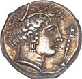 Ancients:Greek, Ancients: Entella. Ca. 345-315 BC. AR tetradrachm (17.19 gm). . ...