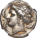 Ancients:Greek, Ancients: Entella. Ca. 345-315 BC. AR tetradrachm (16.96 gm). ...