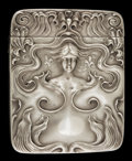 Silver Smalls:Match Safes, A FRITSCHE SILVER MATCH SAFE. L. Fritsche & Co., Newark, NewJersey, circa 1900. Marks: F (in shield), STERLING.2-3...