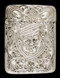 Silver Smalls:Match Safes, A LA PIERRE SILVER MATCH SAFE. La Pierre Mfg. Co., New York, NewYork & Newark, New Jersey, circa 1900. Marks: LSTERLING...