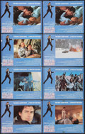 "Movie Posters:James Bond, The Living Daylights (United Artists, 1987). Lobby Cards (8) (11"" X14""). James Bond.. ... (Total: 8 Items)"