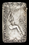 Silver Smalls:Match Safes, A SHIEBLER SILVER MATCH SAFE. George W. Shiebler & Co., NewYork, New York, circa 1900. Marks: (winged S), STERLING,9243...
