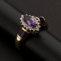 Estate Jewelry:Rings, Fine Amethyst Gold Ring. ...