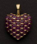 Estate Jewelry:Pendants and Lockets, Charming Ruby & Gold Pendant. ...