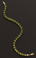 Estate Jewelry:Bracelets, Peridot 14k Gold Bracelet. ...