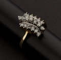Estate Jewelry:Rings, Cluster Diamond & Gold Ring. ...