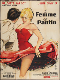"A Woman Like Satan (Pathe, 1958). French Grande (47"" X 63""). Bad Girl"