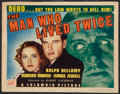 """Movie Posters:Crime, The Man Who Lived Twice (Columbia, 1936). Title Lobby Card (11"""" X 14""""). Crime.. ..."""