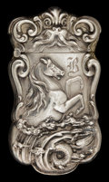 Silver Smalls:Match Safes, AN AMERICAN SILVER MATCH SAFE . Maker unknown, American, circa1900. Marks: STERLING, 925/1000. 3 inches high (7.6 cm). ...