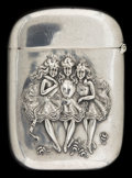 Silver Smalls:Match Safes, AN AMERICAN SILVER MATCH SAFE . Maker unknown, American, circa1900. Marks: STERLING. 2-1/2 inches high (6.4 cm). 1.1 ou...