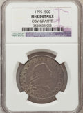 Early Half Dollars, 1795 50C 2 Leaves--Obv Graffiti--NGC. Details Fine 12. NGC Census:(117/515). PCGS Population (176/671). Mintage: 299,680. ...