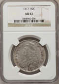 Bust Half Dollars: , 1817 50C AU53 NGC. NGC Census: (34/181). PCGS Population (40/165).Mintage: 1,215,567. Numismedia Wsl. Price for problem fr...
