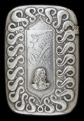 Silver Smalls:Match Safes, A SIMPSON SILVER-PLATED COLUMBIAN EXPOSITION MATCH SAFE . Simpson,Hall, Miller & Co., Wallingford, Connecticut, circa 1893...