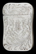 Silver Smalls:Match Safes, AN AMERICAN SILVER PLATED MATCH SAFE . Maker unknown, American,circa 1900. Unmarked. 2-1/2 inches high (6.4 cm). 1.3 ounces...