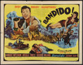 """Movie Posters:Action, Bandido Lot (United Artists, 1956). Half Sheet (22"""" X 28"""") Style B,Insert (14"""" X 36"""" ) and Title Lobby Card (11"""" X 17""""). Ac... (Total:3 Items)"""