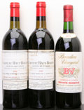 Red Bordeaux, Chateau Haut Bailly . 1982 Pessac-Leognan 1bsl, 1gsl Bottle(2). B.V. Private Reserve Cabernet Sauvignon . 197... (Total: 3Btls. )