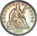 Proof Seated Half Dimes, 1857 H10C PR63 Cameo PCGS. CAC....