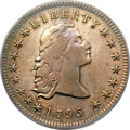 Early Dollars, 1795 $1 Flowing Hair, Three Leaves XF40 PCGS Secure. B-5, BB-27, R.1....