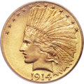 Indian Eagles, 1914 $10 MS66 PCGS. CAC....