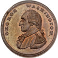 Colonials, Undated (1795) PENNY Washington Liberty & Security Penny MS63 Brown PCGS. CAC. Baker-30, W-11050, R.2....