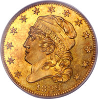 1829 $5 Large Date PR64 PCGS Secure. CAC. Breen-6489, BD-1, R.7....(PCGS# 8149)
