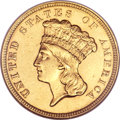 Three Dollar Gold Pieces, 1854-O $3 MS61 NGC. Variety 1....