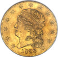 Early Half Eagles, 1828/7 $5 MS64 NGC. CAC. Breen-6487, BD-1, R.7....