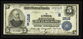 National Bank Notes:Pennsylvania, Mount Joy, PA - $5 1902 Plain Back Fr. 598 The Union National MountJoy Bank Ch. # (E)1516. ...