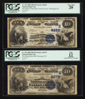 National Bank Notes:Pennsylvania, Pittsburgh, PA - $10 1882 Date Back Fr. 542 The Metropolitan NB Ch. # (E)2279; $10 1882 Date Back Fr. 545 The Bank of ... (Total: 2 notes)