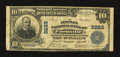 National Bank Notes:Virginia, Farmville, VA - $10 1902 Plain Back Fr. 626 The Peoples NB Ch. #9222. ...