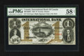 Canadian Currency: , Toronto, ON- International Bank of Canada $1 Sept. 15, 1858 Ch.380-10-08-04. ...