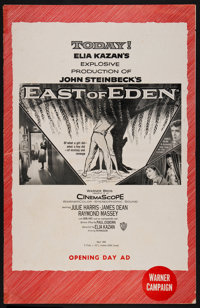 """East of Eden (Warner Brothers, 1955). Uncut Pressbook (24 Pages, 11"""" X 17"""" ). Drama"""