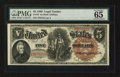 Large Size:Legal Tender Notes, Fr. 70 $5 1880 Legal Tender PMG Gem Uncirculated 65.. ...