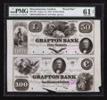 Obsoletes By State:Massachusetts, Grafton, MA- The Grafton Bank $50-$100 Aug. 1, 1854 G16a-G18 ProofPair . ...