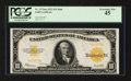 Large Size:Gold Certificates, Fr. 1173a $10 1922 Mule Gold Certificate PCGS Extremely Fine 45.. ...