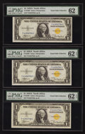 Small Size:World War II Emergency Notes, Fr. 2306 $1 1935A North Africa Silver Certificates. F-C Block Three Examples. PMG Uncirculated 62 EPQ (2) & 62.. ... (Total: 3 notes)