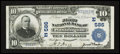 National Bank Notes:Pennsylvania, Washington, PA - $10 1902 Plain Back Fr. 624 The First NB Ch. #(E)586. ...