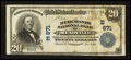 National Bank Notes:Pennsylvania, Meadville, PA - $20 1902 Plain Back Fr. 650 The Merchants NB Ch. #(E)871. ...