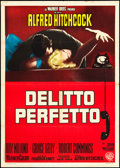 """Movie Posters:Hitchcock, Dial M for Murder (Warner Brothers, R-early 1960s). Italian 2 -Foglio (39"""" X 55""""). Hitchcock.. ..."""