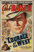 "Movie Posters:Western, Courage of the West (Universal, 1937). One Sheet (27"" X 41"").Western.. ..."