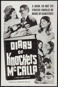 "Movie Posters:Sexploitation, The Diary of Knockers McCalla (Chancellor Films, Inc., 1968). OneSheet (27"" X 41""). Sexploitation.. ..."