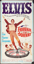 "Movie Posters:Elvis Presley, Frankie and Johnny (United Artists, 1966). Three Sheet (41"" X 81""). Elvis Presley.. ..."