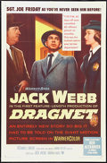 "Movie Posters:Crime, Dragnet (Warner Brothers, 1954). One Sheet (27"" X 41""). Crime.. ..."
