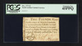 Colonial Notes:North Carolina, North Carolina December, 1771 £2 PCGS Extremely Fine 45PPQ.. ...
