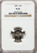 Proof Three Cent Nickels: , 1883 3CN PR65 NGC. NGC Census: (494/371). PCGS Population(499/413). Mintage: 6,609. Numismedia Wsl. Price for problemfree...