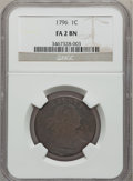 Large Cents: , 1796 1C Draped Bust, Reverse of 1796 Fair 2 NGC. NGC Census:(4/55). PCGS Population (0/75). Mintage: 363,375. (#1401)...