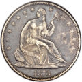 Seated Half Dollars, 1873 50C Open 3, No Arrows XF40 NGC....